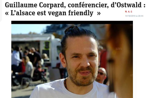 Article de presse, 'l'alsace est vegan friendly